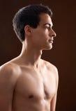 Ελκυστικός νεαρός άνδρας Shirtless στοκ εικόνα με δικαίωμα ελεύθερης χρήσης