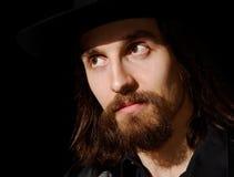 ελκυστικό άτομο καπέλων Στοκ Φωτογραφία