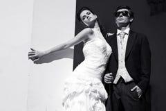 Ελκυστικό γαμήλιο ζεύγος Στοκ εικόνες με δικαίωμα ελεύθερης χρήσης