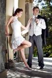 Ελκυστικό γαμήλιο ζεύγος Στοκ φωτογραφία με δικαίωμα ελεύθερης χρήσης