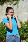 Ελκυστικό θηλυκό και φόβος Filipina στοκ φωτογραφίες με δικαίωμα ελεύθερης χρήσης