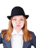 Ελκυστικό θηλυκό με την αστεία έκφραση Στοκ φωτογραφία με δικαίωμα ελεύθερης χρήσης