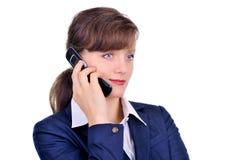 ελκυστικό κινητό τηλέφων&omicr Στοκ φωτογραφία με δικαίωμα ελεύθερης χρήσης