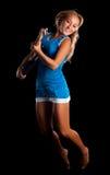 Ελκυστικό κορίτσι με την κιθάρα Στοκ Εικόνα