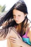 ελκυστικό κορίτσι προσώ&pi στοκ εικόνες
