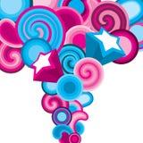 ελκυστικό μπλε ροζ ανα&sigm Απεικόνιση αποθεμάτων