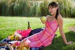 ελκυστικό πρότυπο picnic Στοκ φωτογραφία με δικαίωμα ελεύθερης χρήσης