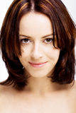 ελκυστικό χαμόγελο brunette στοκ φωτογραφίες