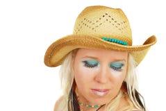 ελκυστικό cowgirl makeup Στοκ φωτογραφίες με δικαίωμα ελεύθερης χρήσης