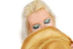ελκυστικό cowgirl makeup Στοκ Φωτογραφία