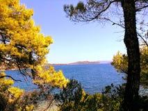 Ελλάδα, διακοπές στο νησί Skiathos Στοκ εικόνα με δικαίωμα ελεύθερης χρήσης