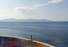 Ελλάδα, Καβάλα, Αιγαίο πέλαγος Στοκ Φωτογραφίες