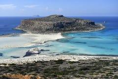 Ελλάδα, Κρήτη, άνθρωποι στη λιμνοθάλασσα Balos στοκ φωτογραφίες