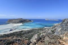 Ελλάδα, Κρήτη, ζαλίζοντας λιμνοθάλασσα Balos και νησί Gramvousa στοκ φωτογραφία με δικαίωμα ελεύθερης χρήσης