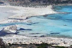 Ελλάδα, Κρήτη, ζαλίζοντας λιμνοθάλασσα Balos στοκ εικόνες
