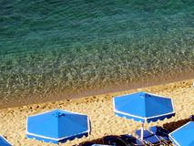 Ελλάδα, νησί Kos, άποψη της ακτής και της παραλίας και του κρυστάλλου - σαφής θάλασσα στοκ φωτογραφία με δικαίωμα ελεύθερης χρήσης