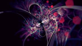 Ελλειπτικό κόσμημα Zerg κακοβουλίας με την εξαγωνική Fractal θαμπάδων τέχνη διανυσματική απεικόνιση