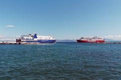 Ελληνικά διά πορθμεία νησιών Στοκ φωτογραφία με δικαίωμα ελεύθερης χρήσης
