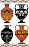 ελληνικά καθορισμένα vases Στοκ εικόνα με δικαίωμα ελεύθερης χρήσης