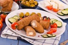 Ελληνικά κεφτή Bifteki στοκ φωτογραφίες
