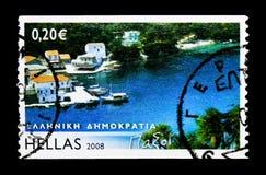 Ελληνικά νησιά - Παξοί, serie, circa 2008 Στοκ Φωτογραφίες