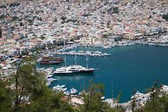 ελληνικά νησιά Kalymnos λιμάνι Ο καλύτερος τόπος προορισμού τουριστών στο Αιγαίο πέλαγος στοκ φωτογραφίες