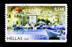 Ελληνικά νησιά - Kalymnos, serie, circa 2008 Στοκ εικόνες με δικαίωμα ελεύθερης χρήσης