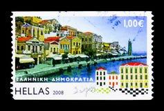 Ελληνικά νησιά - Symi, serie, circa 2008 Στοκ Εικόνες