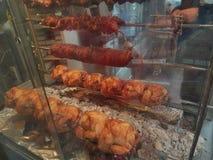 Ελληνικά παραδοσιακά τρόφιμα κρέατος Kokoretsi επάνω στοκ εικόνες με δικαίωμα ελεύθερης χρήσης