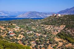 ελληνικά poros τοπίων που λαμ&b στοκ φωτογραφίες με δικαίωμα ελεύθερης χρήσης