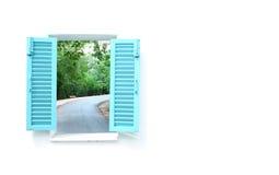 Ελληνικά Windows ύφους με την οδική όψη καμπυλών Στοκ Εικόνες