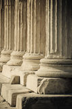 Ελληνικές στήλες στοκ φωτογραφία