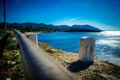 Ελληνική εθνική οδός στοκ εικόνες