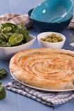 Ελληνική πίτα σπανακιού στοκ εικόνες