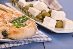 Ελληνική πίτα σπανακιού Στοκ Εικόνα