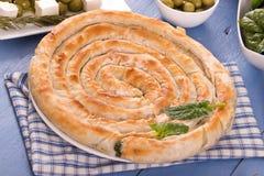 Ελληνική πίτα σπανακιού στοκ εικόνες με δικαίωμα ελεύθερης χρήσης