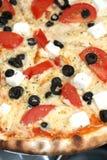 ελληνική πίτσα Στοκ Εικόνες