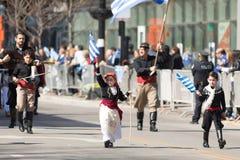 Ελληνική παρέλαση 2018 ημέρας της ανεξαρτησίας στοκ φωτογραφία με δικαίωμα ελεύθερης χρήσης