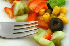 ελληνική σαλάτα δικράνων Στοκ Εικόνες