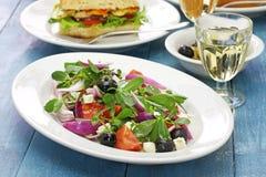 Ελληνική σαλάτα με το purslane Στοκ Φωτογραφία