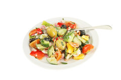 ελληνική σαλάτα πιάτων Στοκ φωτογραφία με δικαίωμα ελεύθερης χρήσης