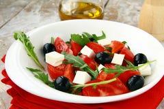 ελληνική σαλάτα φέτας τυ&rho Στοκ Φωτογραφία