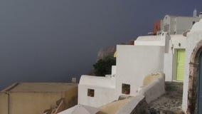Ελληνική υδρονέφωση νησιών Santorini που έρχεται στον πυροβολισμό βράσης φιλμ μικρού μήκους