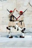 ελληνική φρουρά αλλαγής Στοκ φωτογραφία με δικαίωμα ελεύθερης χρήσης