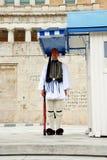ελληνική φρουρά της Αθήνα Στοκ εικόνα με δικαίωμα ελεύθερης χρήσης