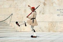 ελληνική φρουρά της Ελλά& Στοκ φωτογραφία με δικαίωμα ελεύθερης χρήσης