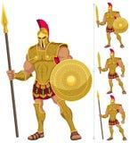 Ελληνικός ήρωας διανυσματική απεικόνιση