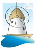 ελληνικός μύλος νησιών Στοκ Εικόνα