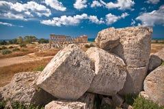 ελληνικός ναός selinunte Στοκ Εικόνες