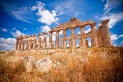 ελληνικός ναός selinunte στοκ εικόνα με δικαίωμα ελεύθερης χρήσης